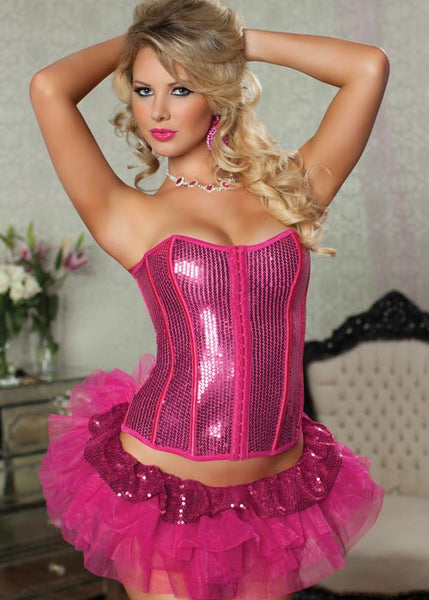 Prima Ballerina Sequin Tiered Tutu - Hot Pink