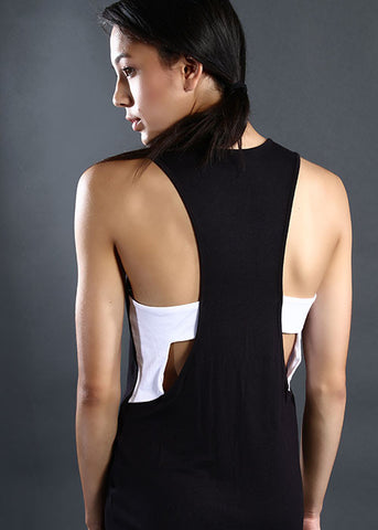 The Cut-Out Dress - White & Black
