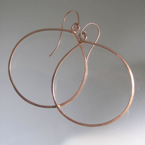 Large 14k Rose Gold Filled Hoops, Minimalist Earrings Made to Order