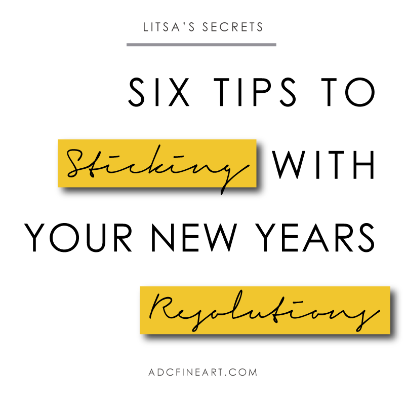 how to stick with your new year's resolutions