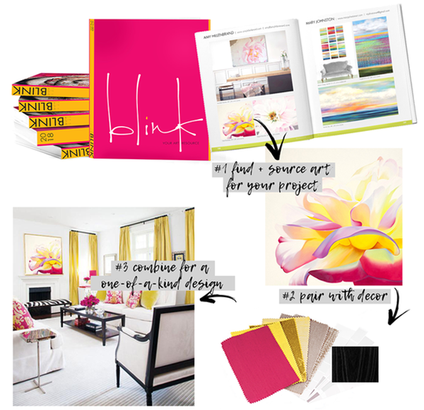 how an interior designer sources art from Blink Art Resource