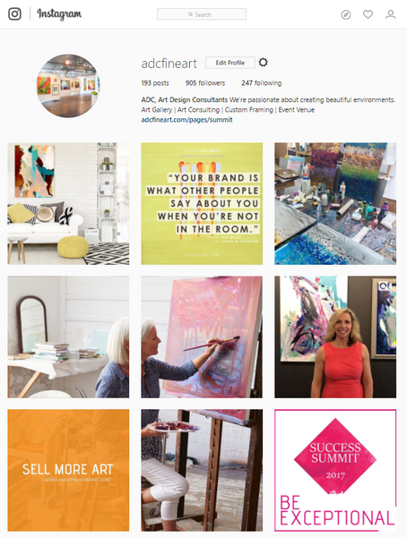 ADC's Instagram is a great example of social media marketing and content strategy