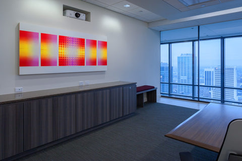Corporate art installation at PricewaterhouseCooper PwC. Artwork by Mike Nemire. Photography © 2016 Andy Spessard Photography