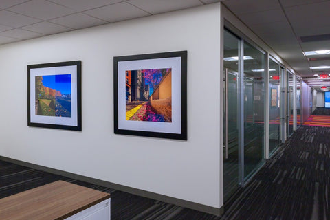 Corporate art installation at PricewaterhouseCooper PwC. Photography © 2016 Andy Spessard Photography