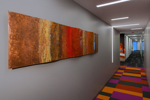 Corporate art installation at PricewaterhouseCooper PwC. Artwork by Ken Rausch. Photography © 2016 Andy Spessard Photography