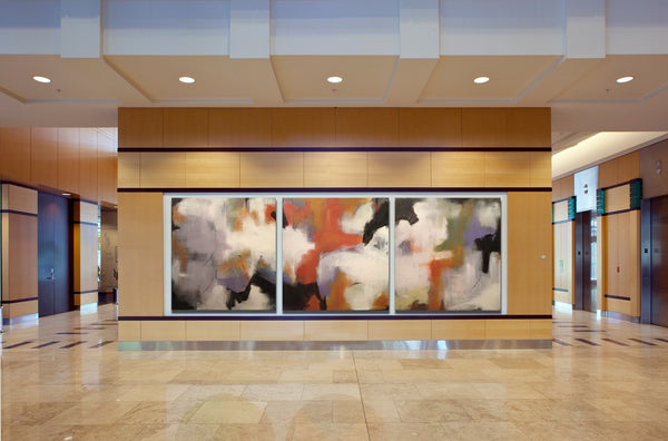 Corporate art installation with artwork by  | Art Design Consultants