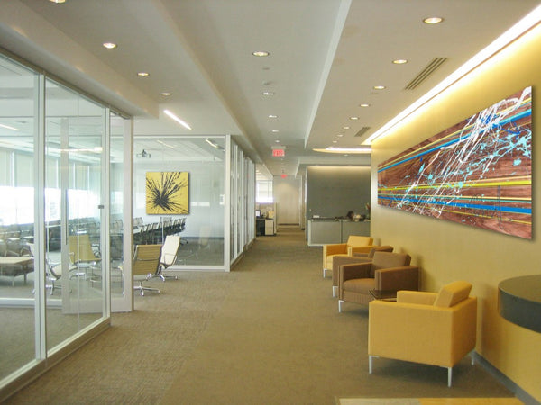 Lobby art for corporate spaces | Artwork by Chantal Brunet | Art Design Consultants