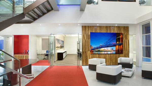 Lobby and office art installations | Artwork by David Osborn | Art Design Consultants