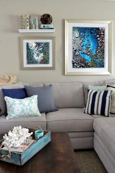 Mixed media abstract art by Amy Genser I Art Design Consultants