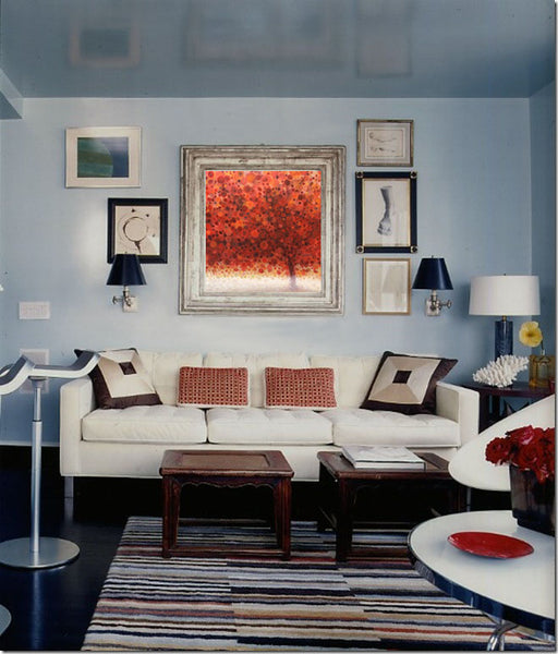 Fall decor inspiration with artwork by April Willy | Art Design Consultants