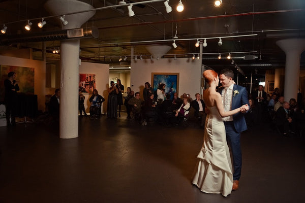 Kristin and Ervin wedding dance | Weddings and Events at Art Design Consultants Gallery
