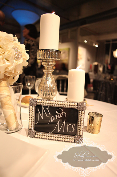 Whitney and Mike table decor and centerpieces | Weddings and Events at Art Design Consultants Gallery