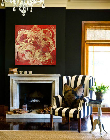 Fall decor inspiration with artwork by Mary Barr Rhodes | Art Design Consultants