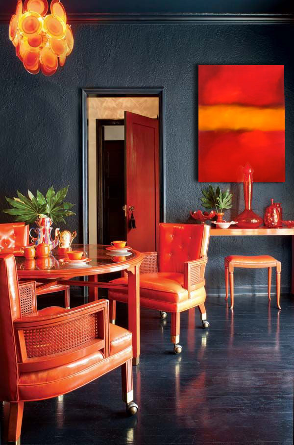 Orange design inspiration. Artwork by Bonita Williams Goldberg | Art Design Consultants