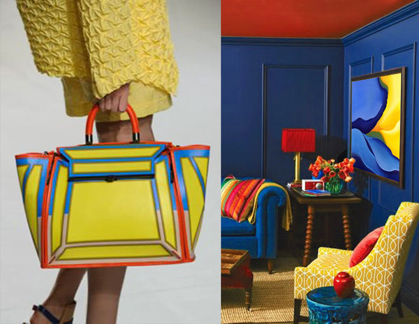 Primary color handbag inspiration. Art by Bonita Williams Goldberg | Art Design Consultants