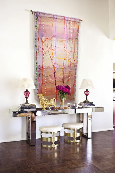 Entryway design inspiration with artwork by Cathy Breslaw | Art Design Consultants
