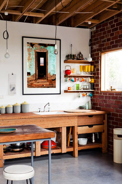 Kitchen design inspiration with artwork by K. Randall Wilcox | Art Design Consultants