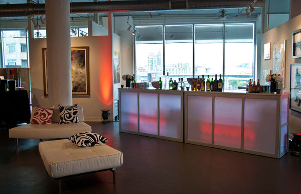 Special events bar and lounge space at Art Design Consultants Gallery in the Sky