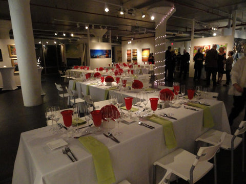 Corporate dinner special event at Art Design Consultants (ADC) art gallery