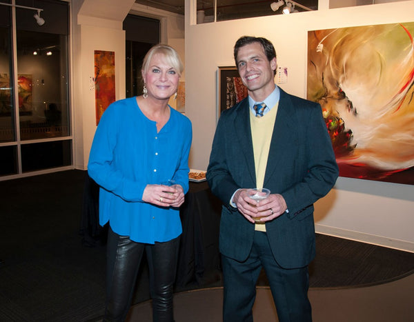 Allison Banzhaf, ADC Senior Art Consultant and Andrew Benson, Morgan Stanley (Event Sponsor).
