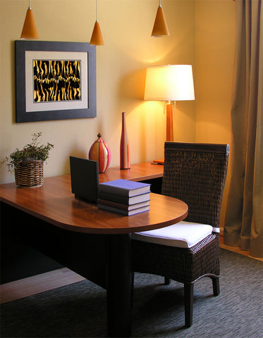 Home office decor with artwork by Stan Johnson