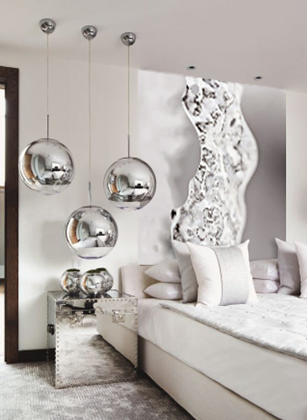 White and silver design inspiration with artwork by Daniel Sroka I Art Design Consultants