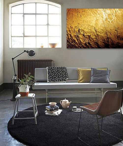Metallic living room style with photography by David W Bullanday | Art Design Consultants