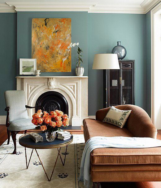Orange design inspiration. Artwork by Elizabeth LaPenna | Art Design Consultants