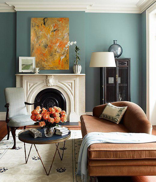 Fall decor inspiration with artwork by Elizabeth LaPenna | Art Design Consultants