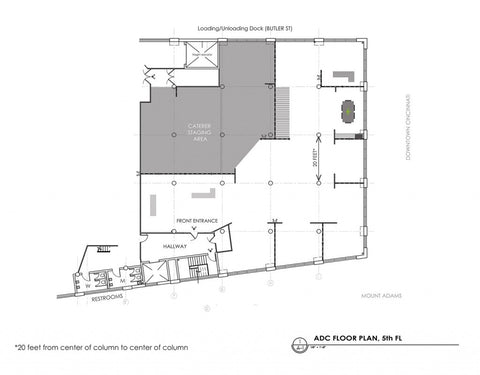 Art Design Consultants (ADC) special event, wedding and rental floor plan