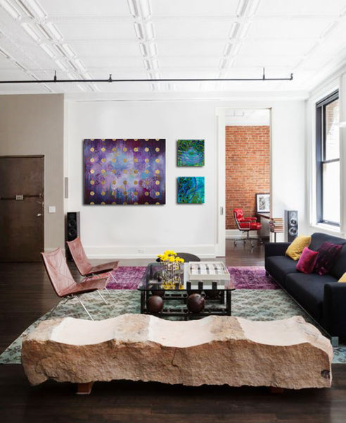 Heather Robinson and CK Nichelson in Loft | Art Design Consultants