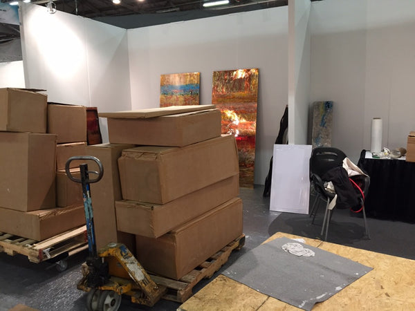 Art Design Consultants copperworks booth installation at ArtExpo New York