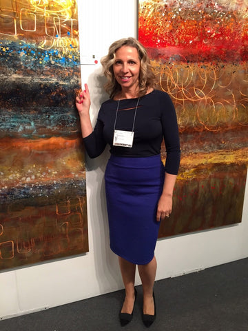 Litsa with Copperworks by Ken Rausch | Art Design Consultants at Artexpo New York 2015