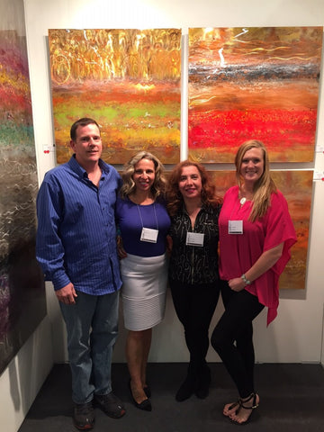 Litsa, Sylvia and Chelsea | Copperworks by Ken Rausch | Art Design Consultants at Artexpo New York 2015