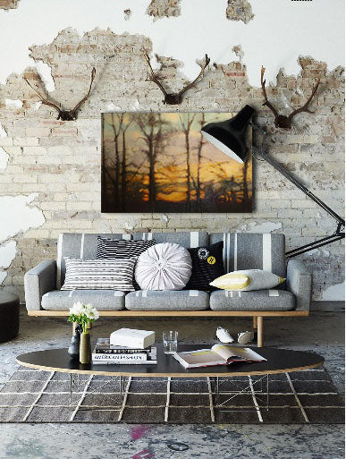 Fall decor inspiration with artwork by JD Naraine | Art Design Consultants