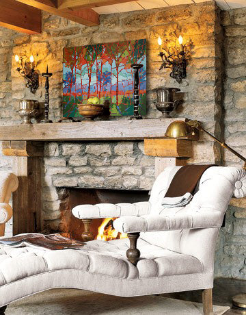 Fall decor inspiration with artwork by Jerry Points | Art Design Consultants