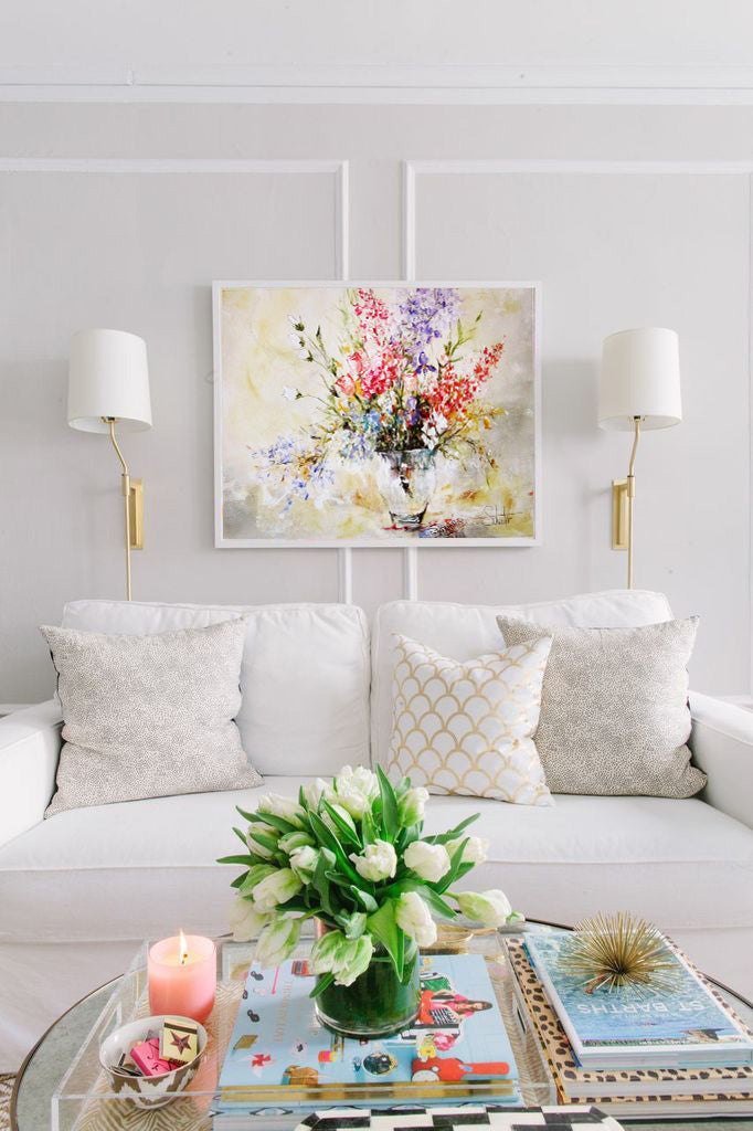 Mother's day bouquet floral design inspiration | Artwork by Lisa Schuster | Art Design Consultants