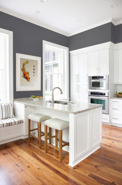 Kitchen design inspiration with artwork by Lynne Bowden | Art Design Consultants