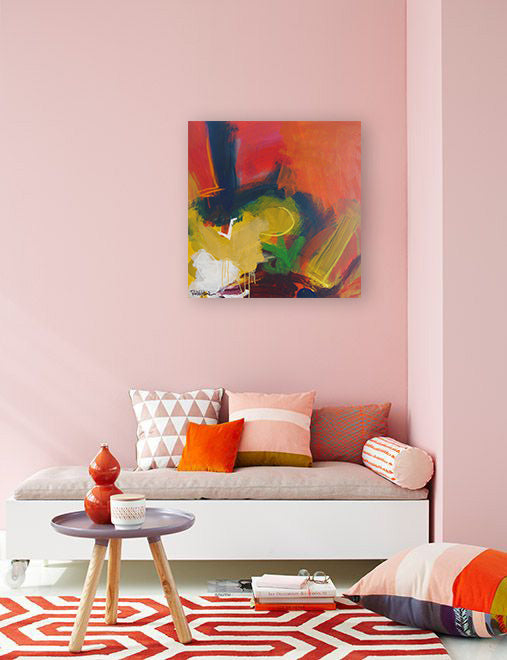 Orange design inspiration. Artwork by Robbie Kemper | Art Design Consultants