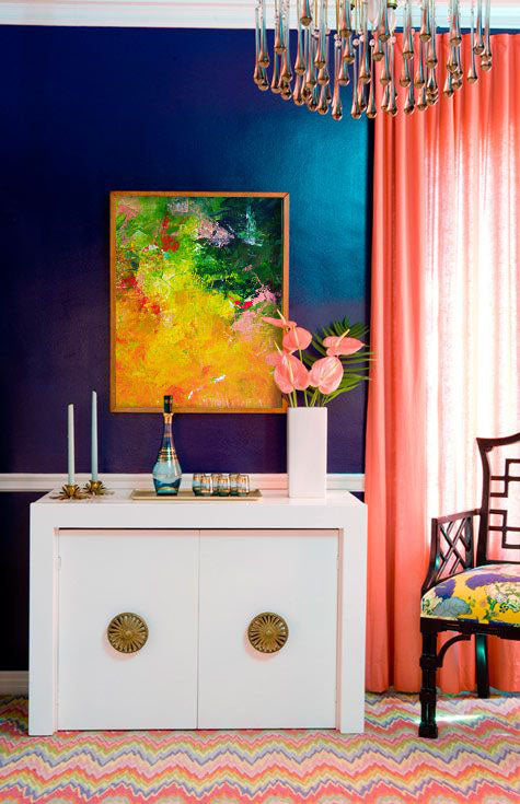 Orange design inspiration. Art by Ron Halfant | Art Design Consultants