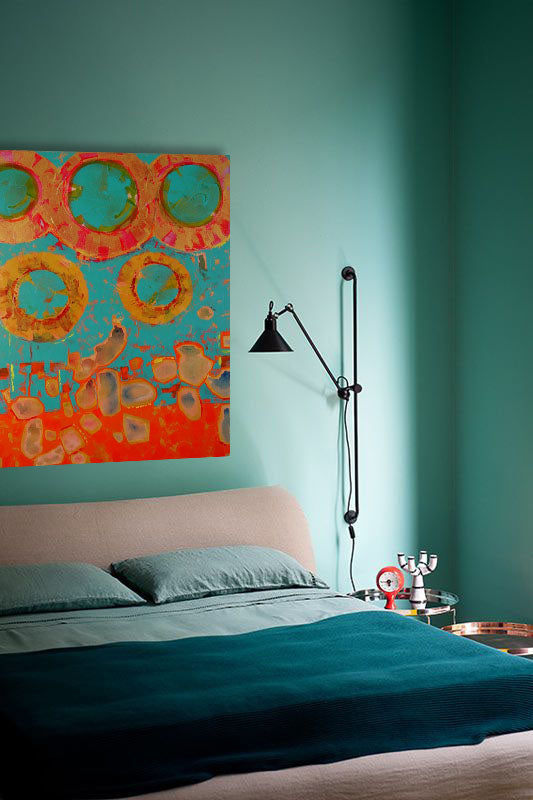 Orange design inspiration. Artwork by Chin Yuen | Art Design Consultants