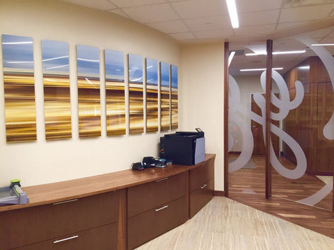 GE Aviation Lobby, corporate art installation by Art Design Consultants