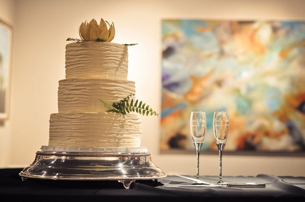 Kristin and Ervin wedding cake | Weddings and Events at Art Design Consultants Gallery