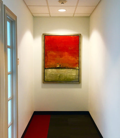 PwC (Price Waterhouse Cooper) corporate art install featuring artwork by Brad Robertson