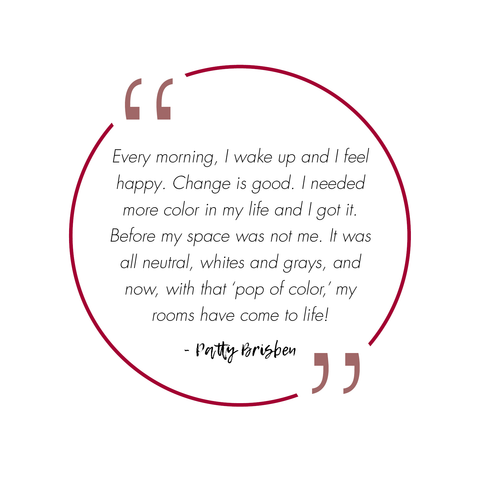 Quote from Patty Brisben about how ADC's art consultants transformed her home and life