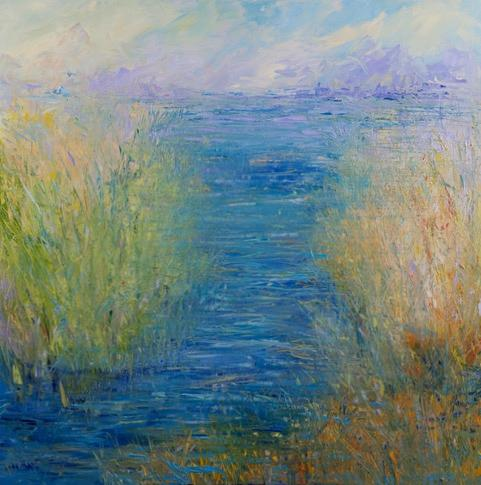 Trish Weeks, artist, Wander the Marsh 1, ADC Fine Art, Painting, original art