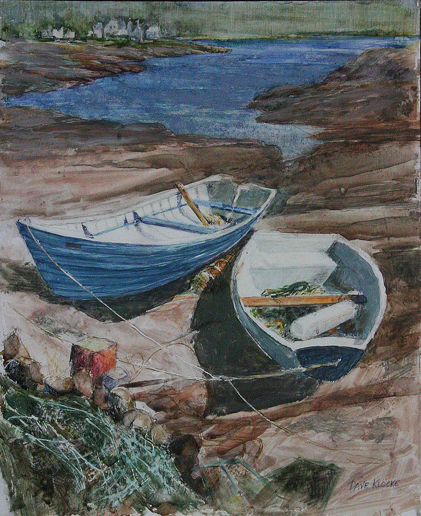 Beached Boats / 13.5 x 16 / watercolor