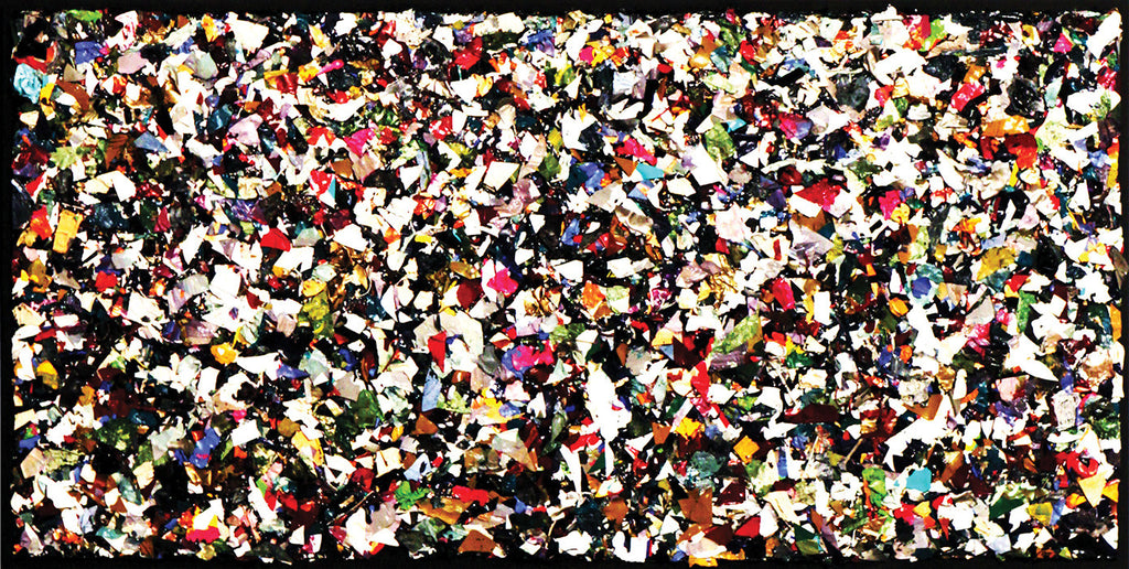 Bubblegum Alley - SOLD / 48 x 24 / PaletteArt™ acrylic on canvas