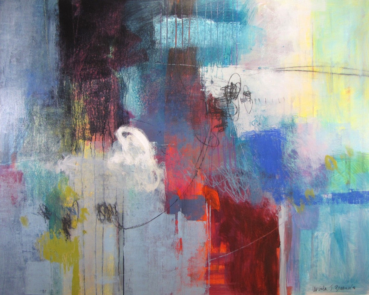 Where The Wind Blows / 60 x 48 / acrylic mixed media on canvas