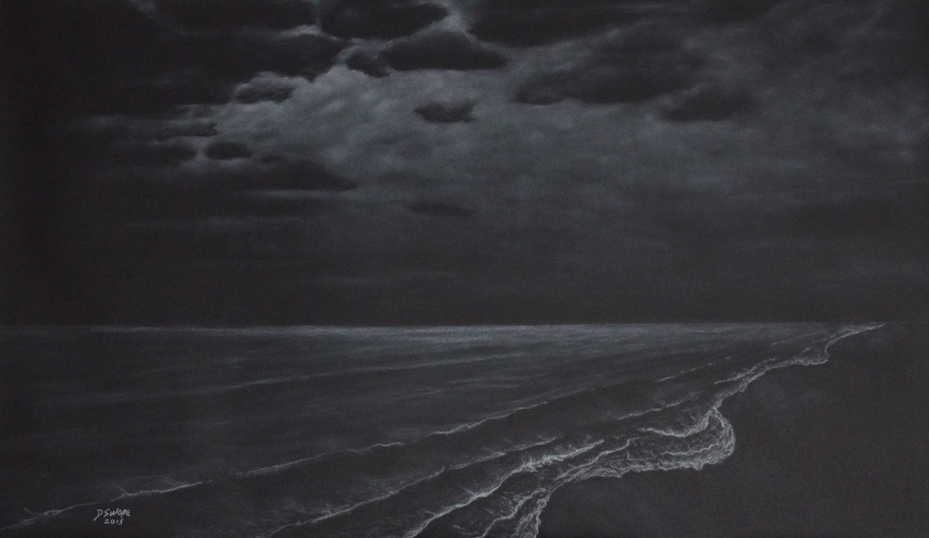 A Sea of Clouds / 59 x 36 / chalk on paper